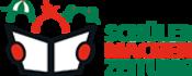 Logo Schülerzeitung, Zeitung lesende Schülerinnen und Schüler